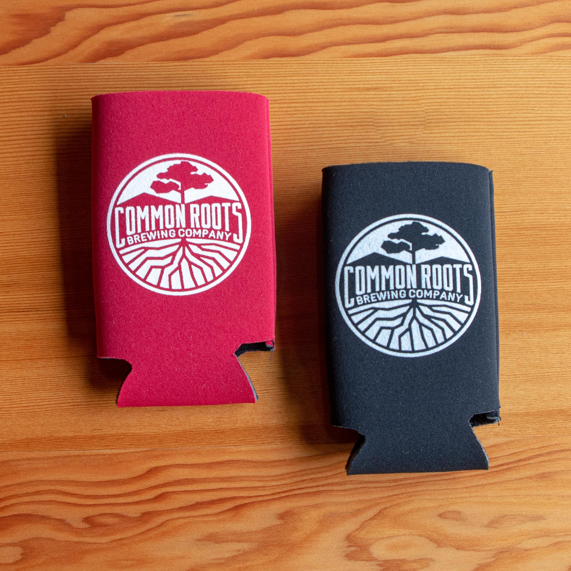 Red and Black Koozies