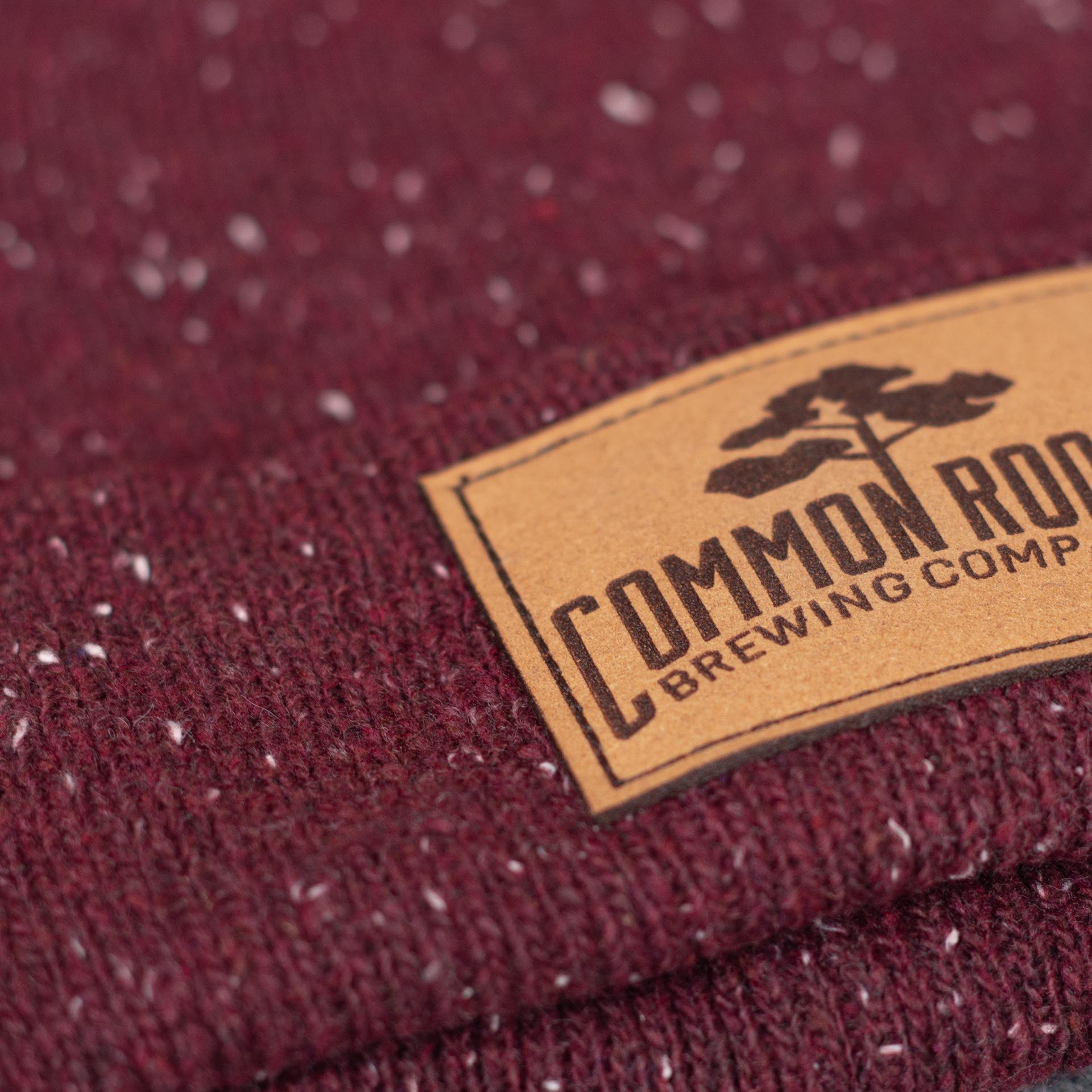 Beanie Leather Logo Patch Detail